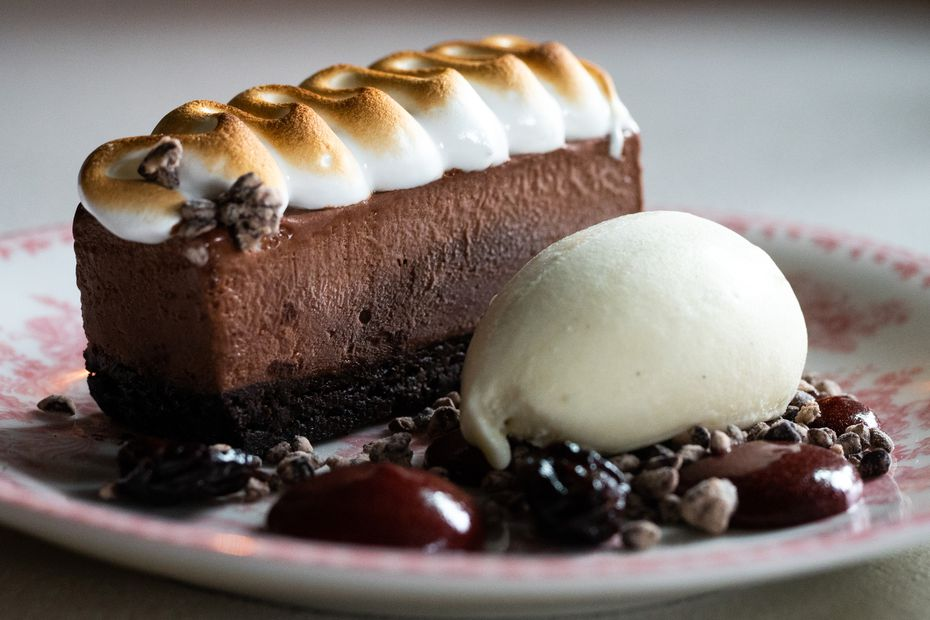 Three desserts are on Sister's menu at the moment.  Here is the double chocolate bar with flourless chocolate cake and iced chocolate mousse.