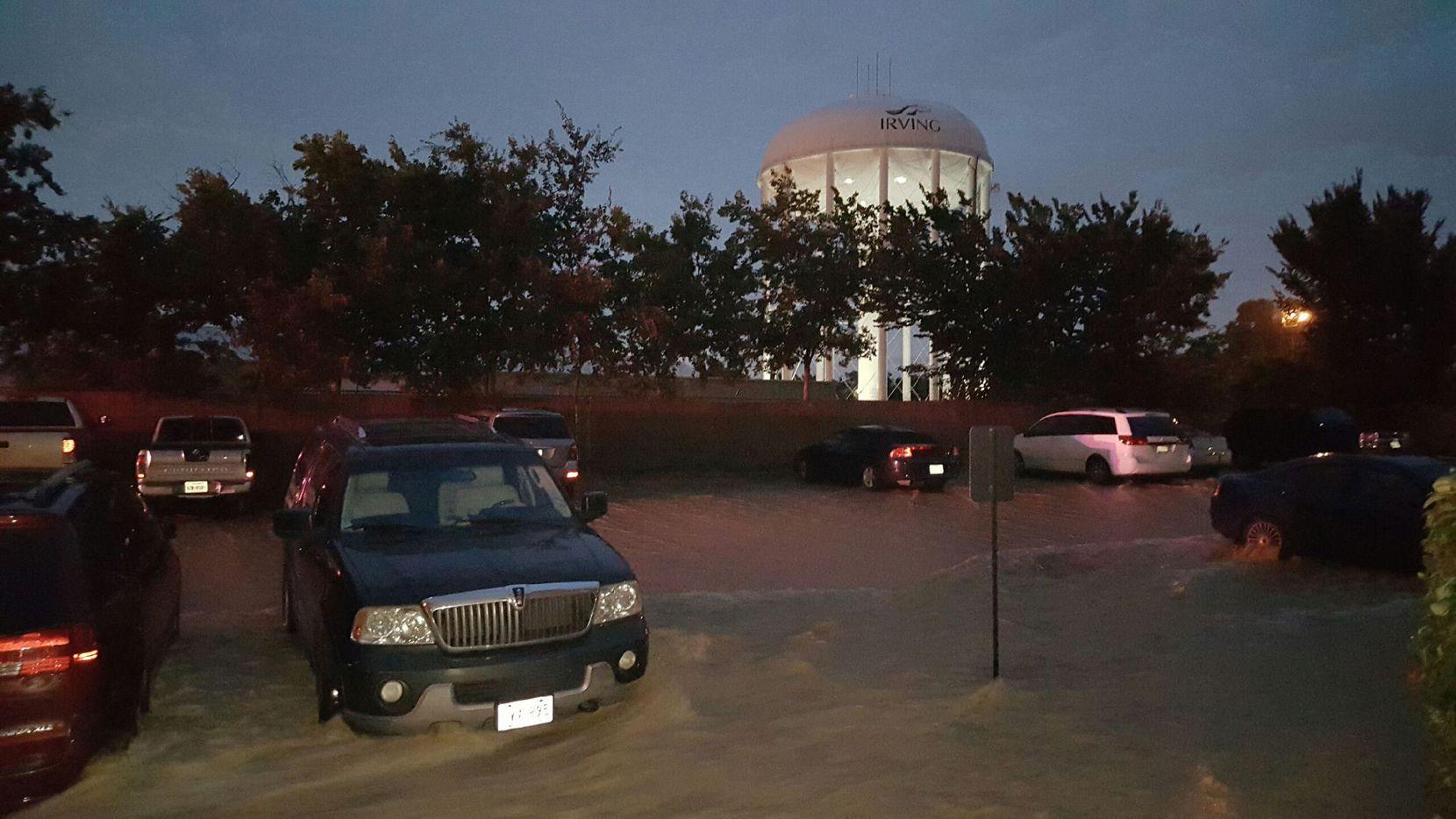 Los Newport Apartments se inundaron luego de que reventó una tubería en la torre de agua de Irving el 1 de junio. CORTESÍA