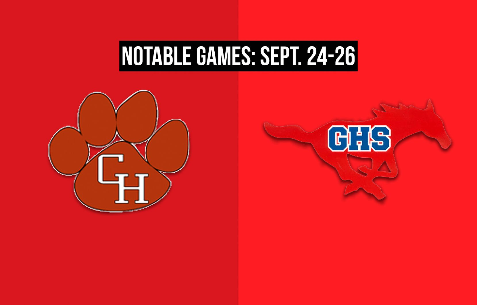 Notable games for the week of Sept. 24-26 of the 2020 season: Colleyville Heritage vs. Grapevine.