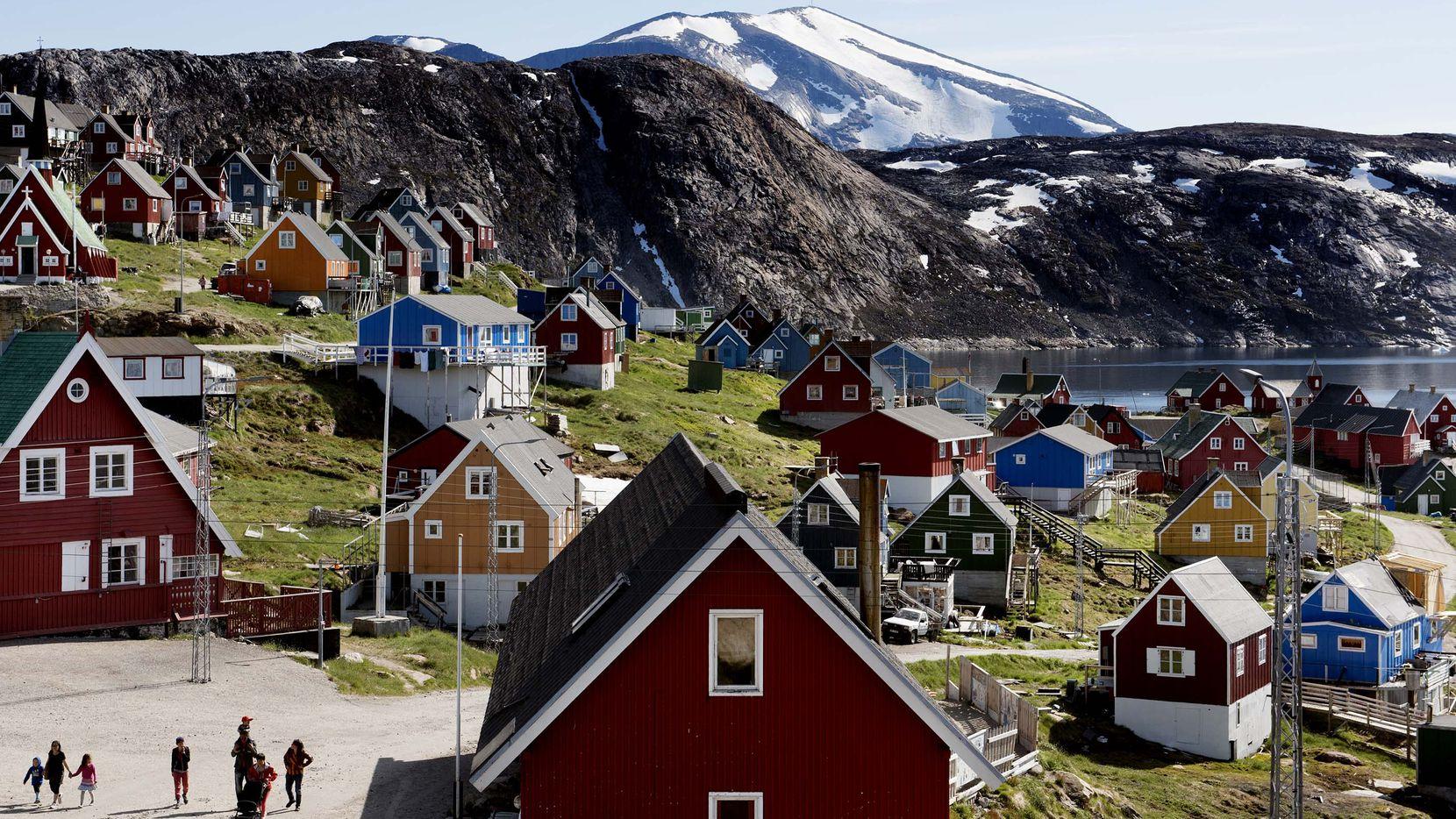 El pueblo de Upernavik en la parte oeste de Groenlandia.