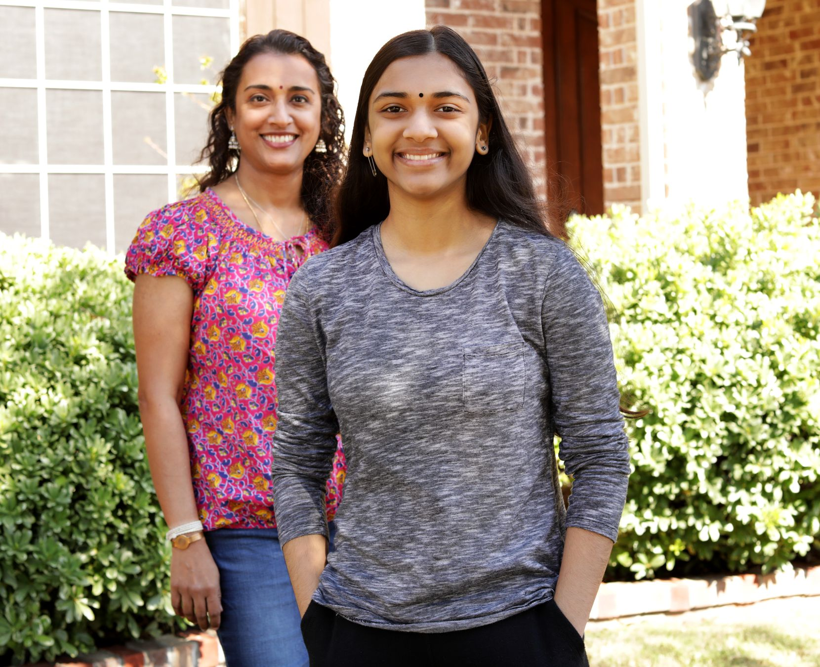Sunitha Cheruvu, left, and her daughter Jayanti, 14, speak about the impact of watching Kamala Harris emerge as the first female vice president. Harris, whose father was Jamaican and mother Indian, has inspired many young Indian-American women.