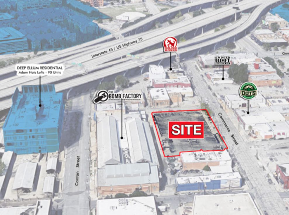 The building is planned for a vacant block on Commerce Street.