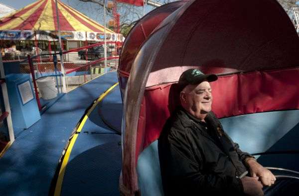 Frank Rush III, whose family for years owned Carrollton's Sandy Lake Amusement Park, is shown at the park in 2012.