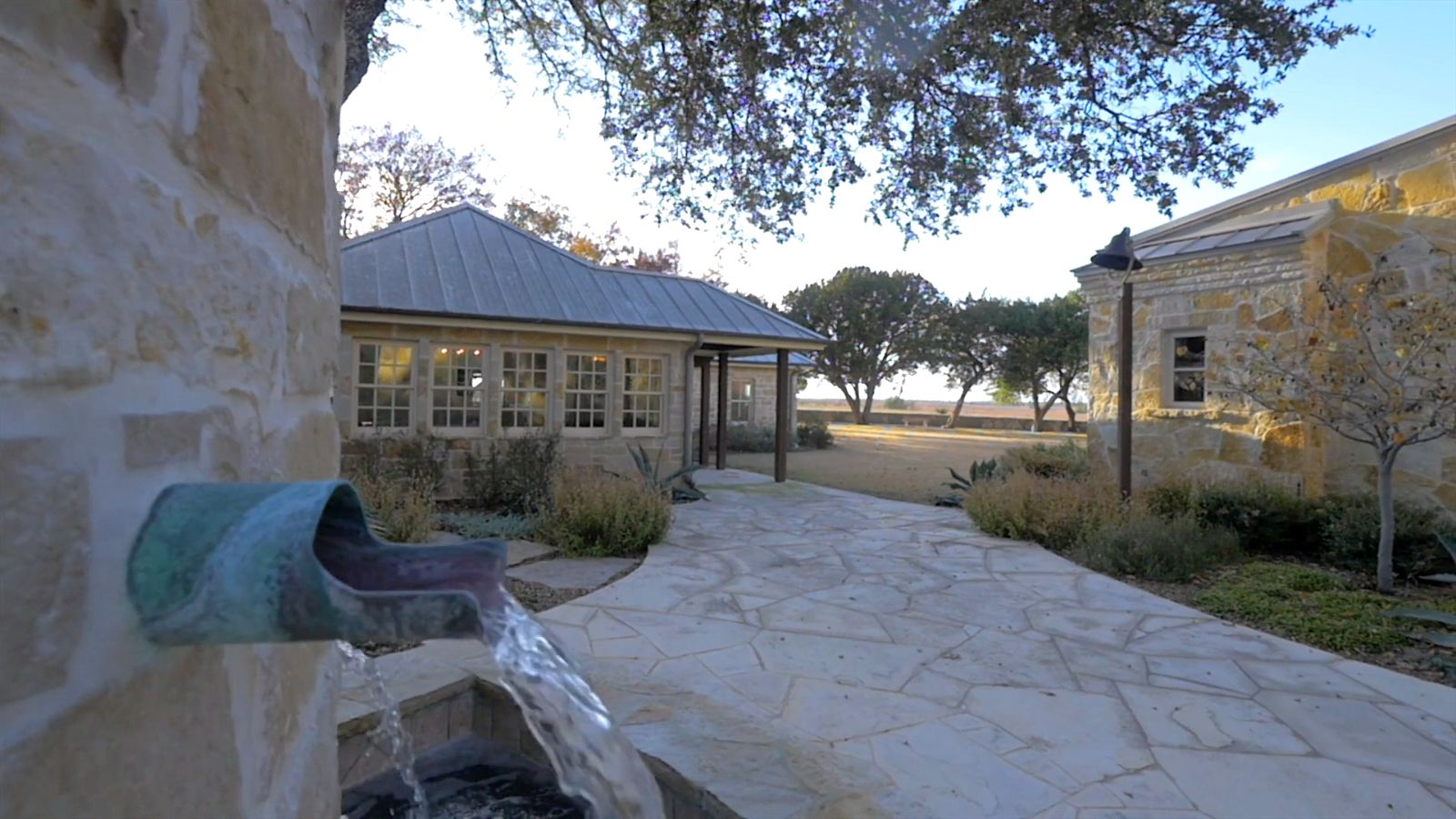 The main ranch house is two years old.
