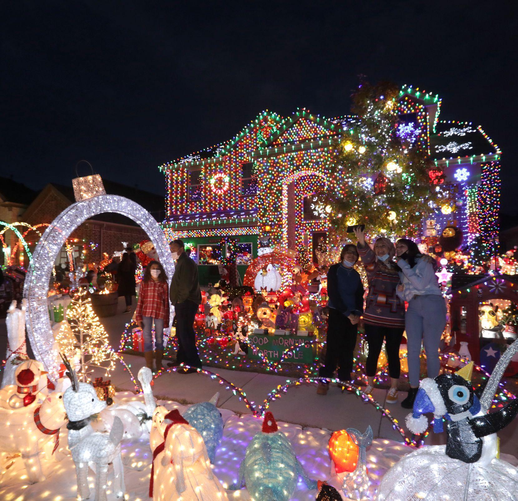 La casa de la familia Burkman en Frisco.