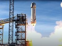 A video frame shows Blue Origin successfully completingits14thmission to space and back on Jan. 14 at Blue Origin's Launch SiteOne in Van Horn, Texas.
