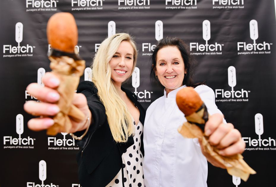 Vickie Fletcher, right, and her daughter Jace Fletcher Christensen started advertising their new business in early 2019. This photo was taken back when the company was called Fletch; a judge has since temporarily ordered the mother-daughter duo to change the name so as to not create confusion with the Fletcher's Original State Fair Corny Dogs brand.