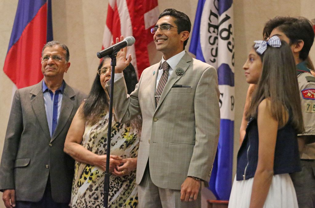 Bhojani is sworn into the Euless City Council's Place 6 seat.
