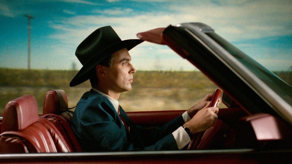 David Byrne in a scene from his film, True Stories (1986), which celebrates North Texas.