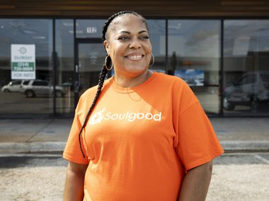 Chef Cynthia Nevels of Soulgood poses for a photo outside of the future site of her first brick and mortar restaurant on Sept. 4, 2020 in West Dallas. (Juan Figueroa/ The Dallas Morning News)