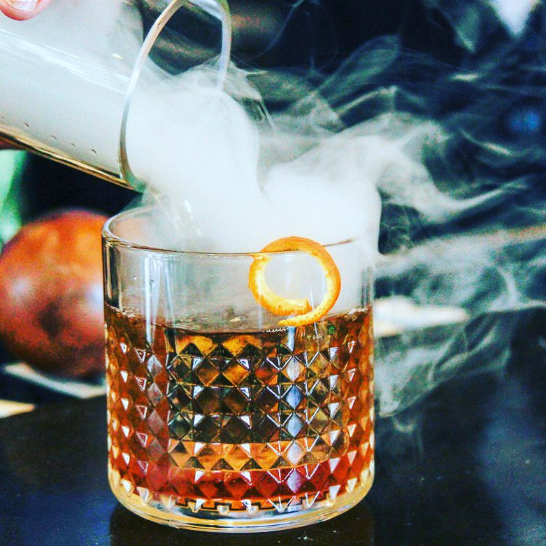 An old fashioned is a favorite drink at Rare Books Bar in Frisco.
