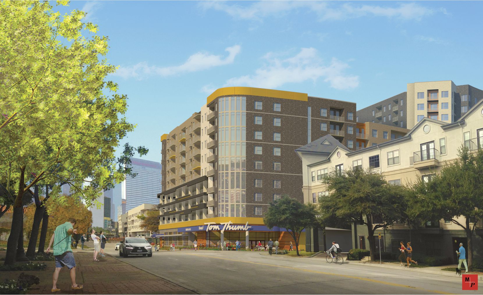 Tom Thumb will have a store in the ground floor of the building.