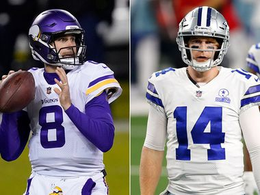 Vikings quarterback Kirk Cousins (left) and Cowboys quarterback Andy Dalton. (Photo credit from left: AP Photo, The Dallas Morning News)
