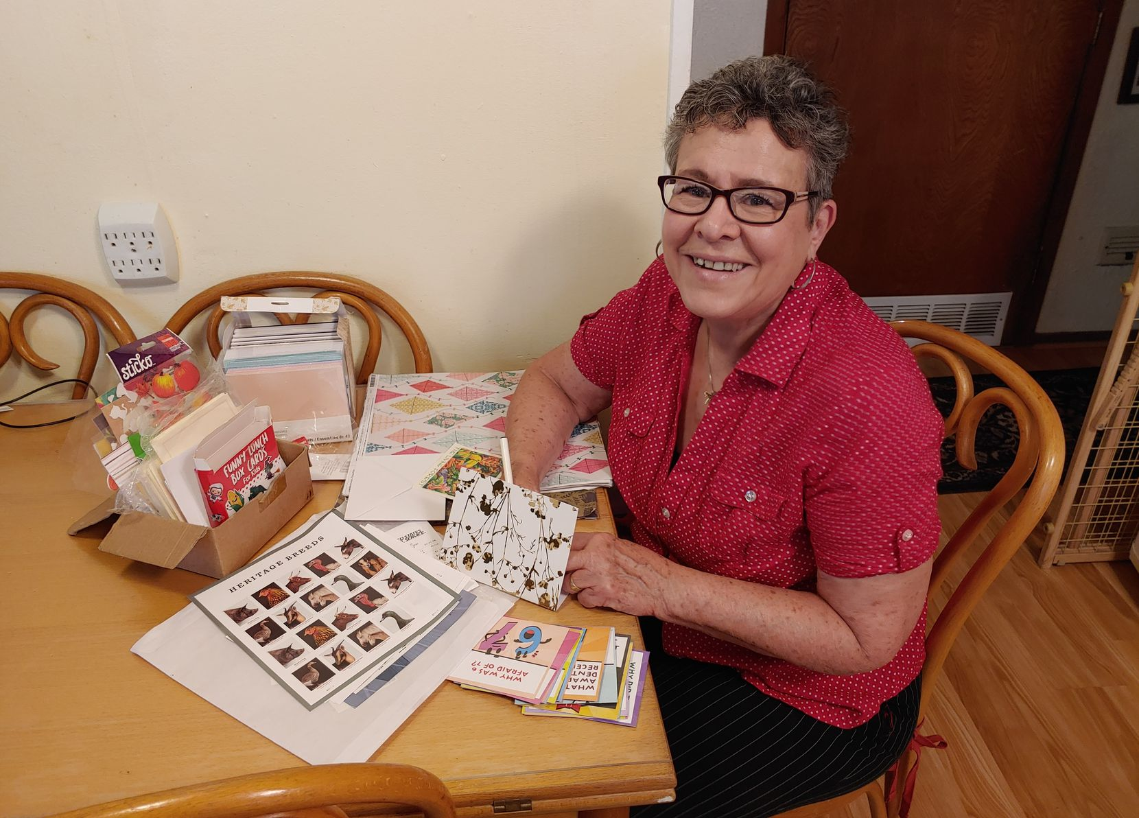 Barbara Berner of Irving frequently writes letters to strangers and loved ones alike. She spends about an hour writing each one.