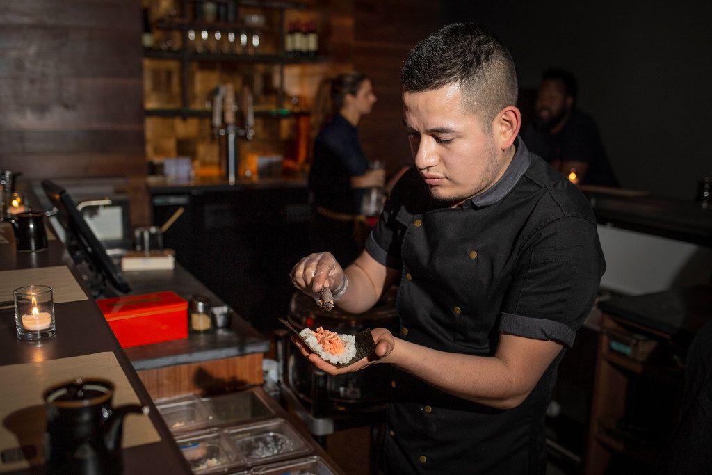 Chef Carmelo Gopar at Namo in West Village