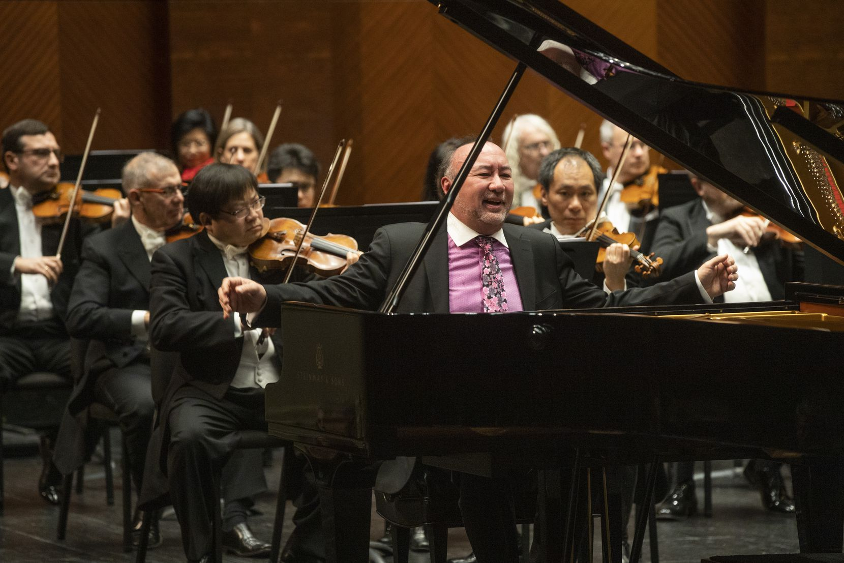 Pianist John Kimura Parker performs with the Fort Worth Symphony Orchestra in concert at Bass Performance Hall in Fort Worth, Texas, on Friday, Jan. 10, 2020.