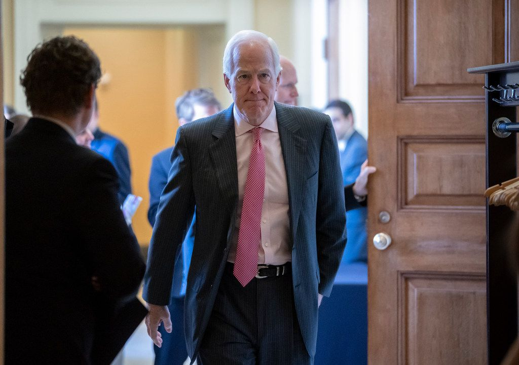 Texas Sen. John Cornyn phoned President Donald Trump to share his view that a closure of the U.S.-Mexico border would be a 'terrible mistake.'  (AP Photo/J. Scott Applewhite)
