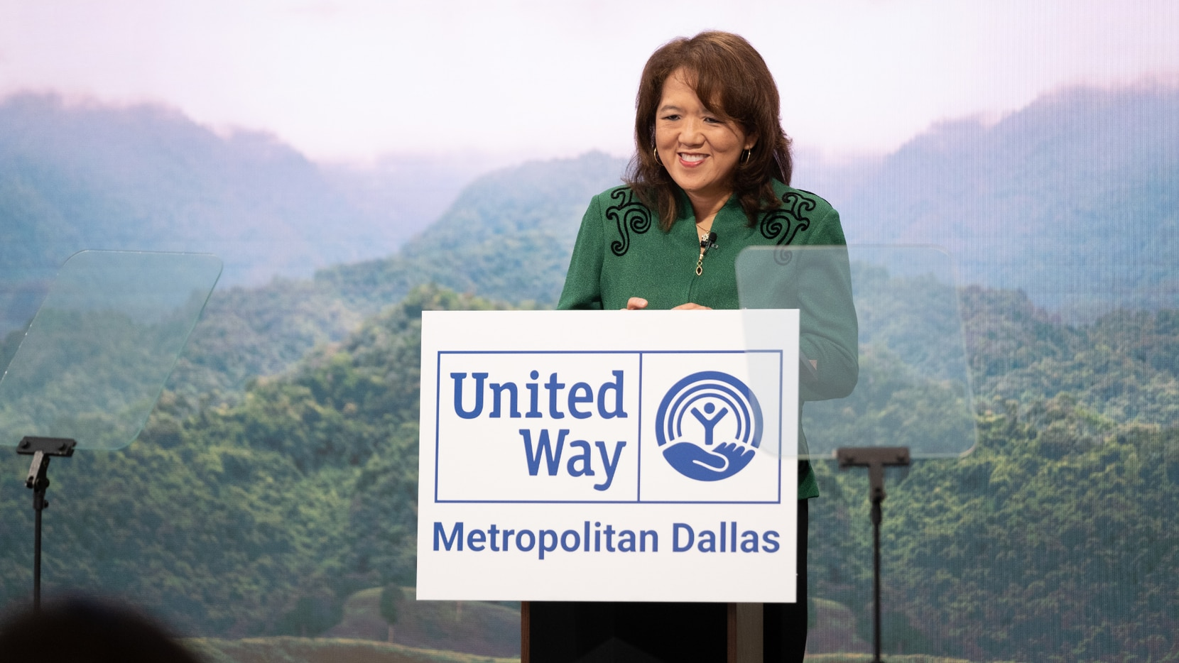 Anne Chow, CEO, AT&T Business; United Way of Metropolitan Dallas Annual Campaign Chair 2020-2022, at the Aspire United 2030 goals launch event.