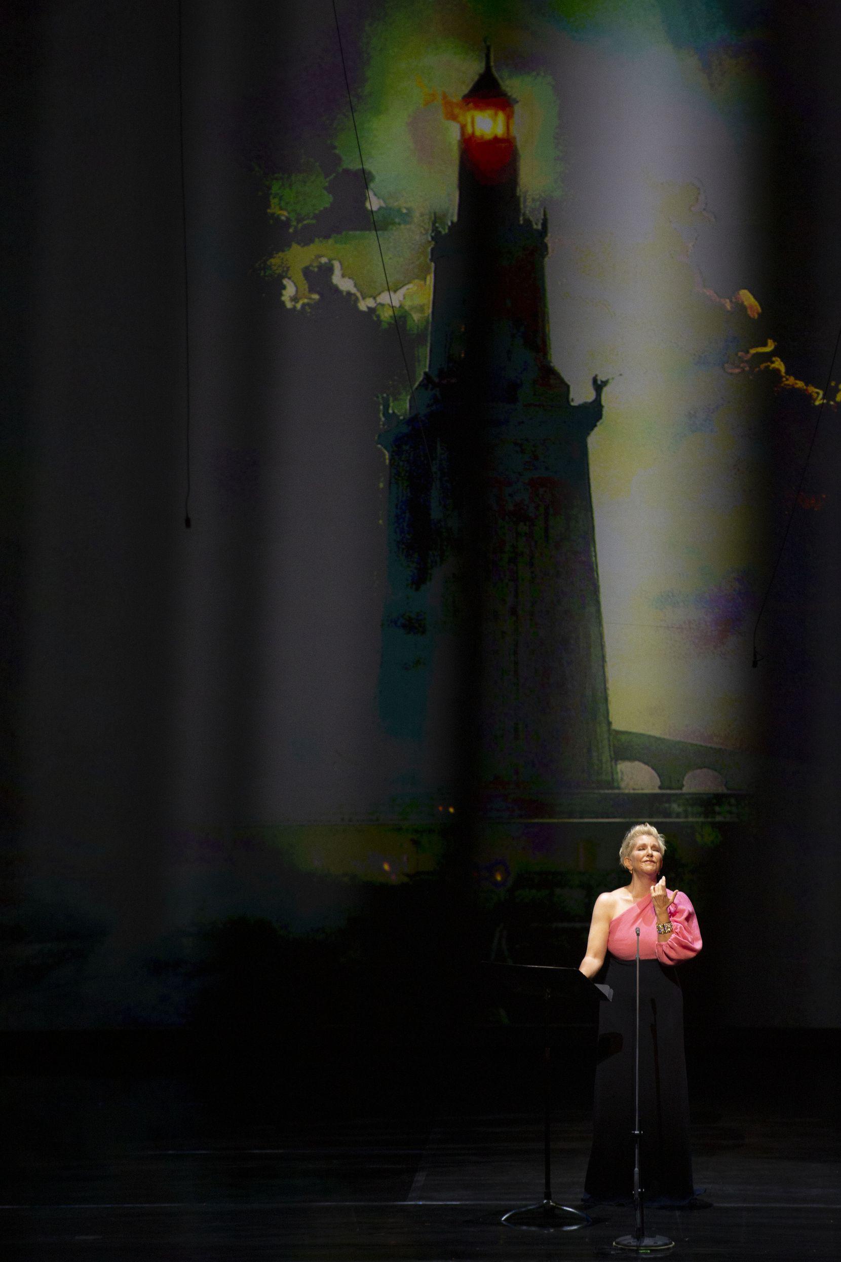 The Dallas Opera's mezzo-soprano Joyce DiDonato performs at Winspear Opera House in Dallas, Texas on Monday, May 10, 2021.