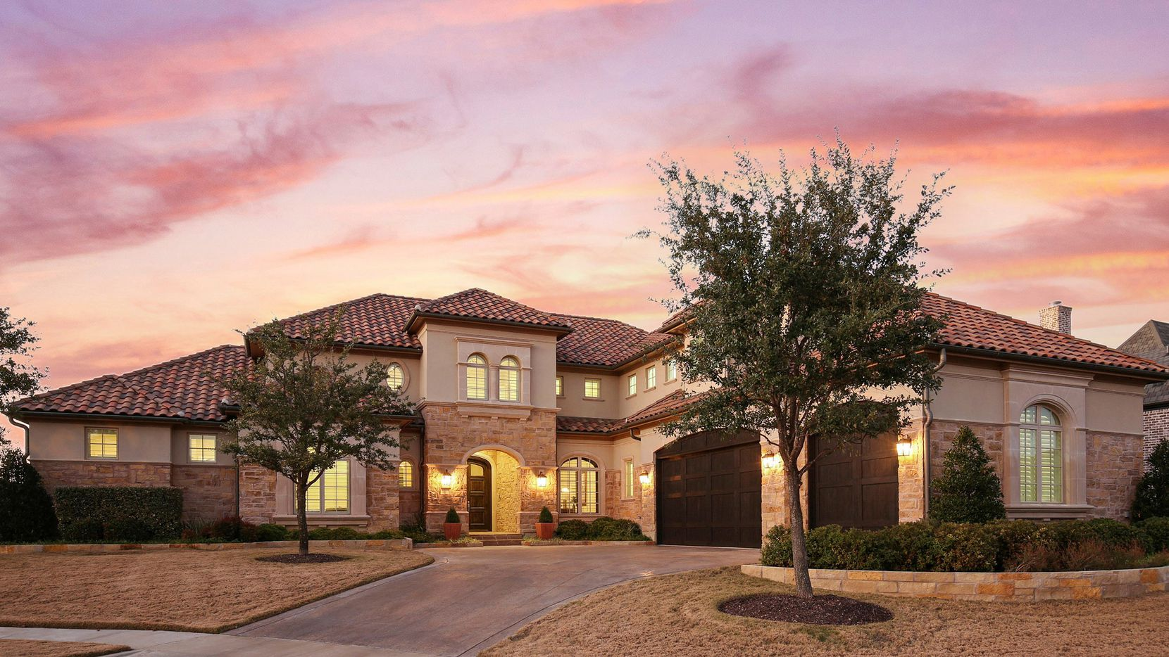 The Tuscan-inspired villa at 6805 Amaretto Court is in Normandy Estates, located in far northwest Plano.