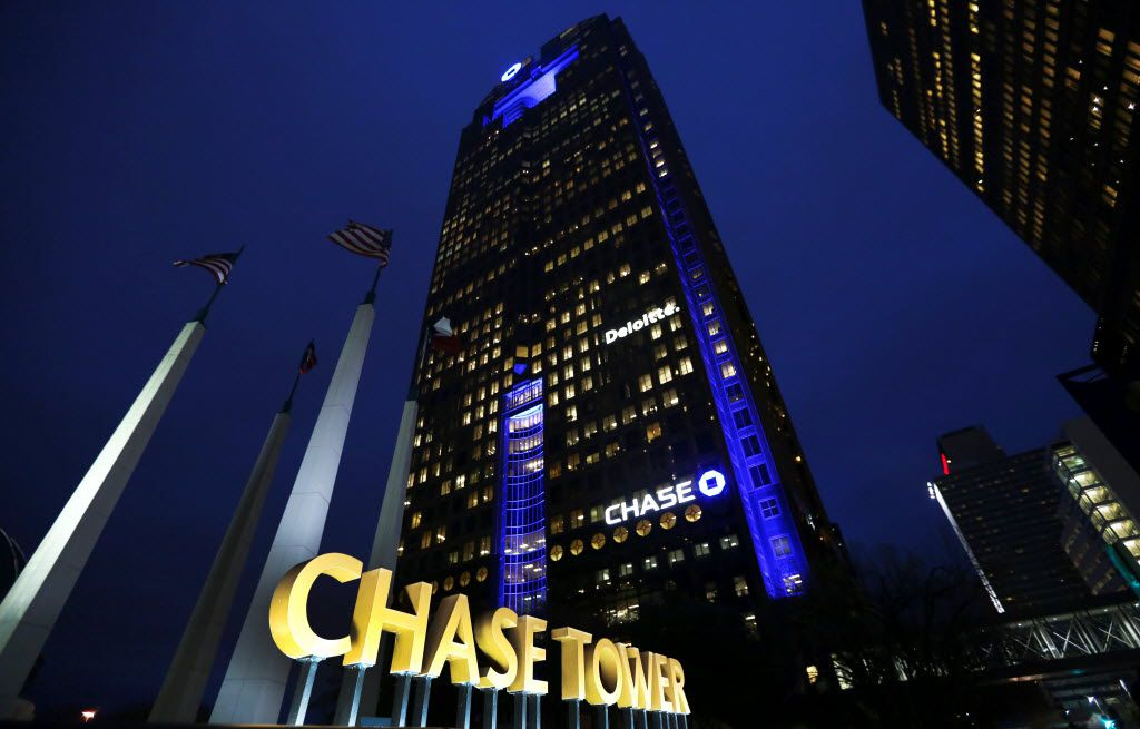 The Chase Tower in downtown Dallas.