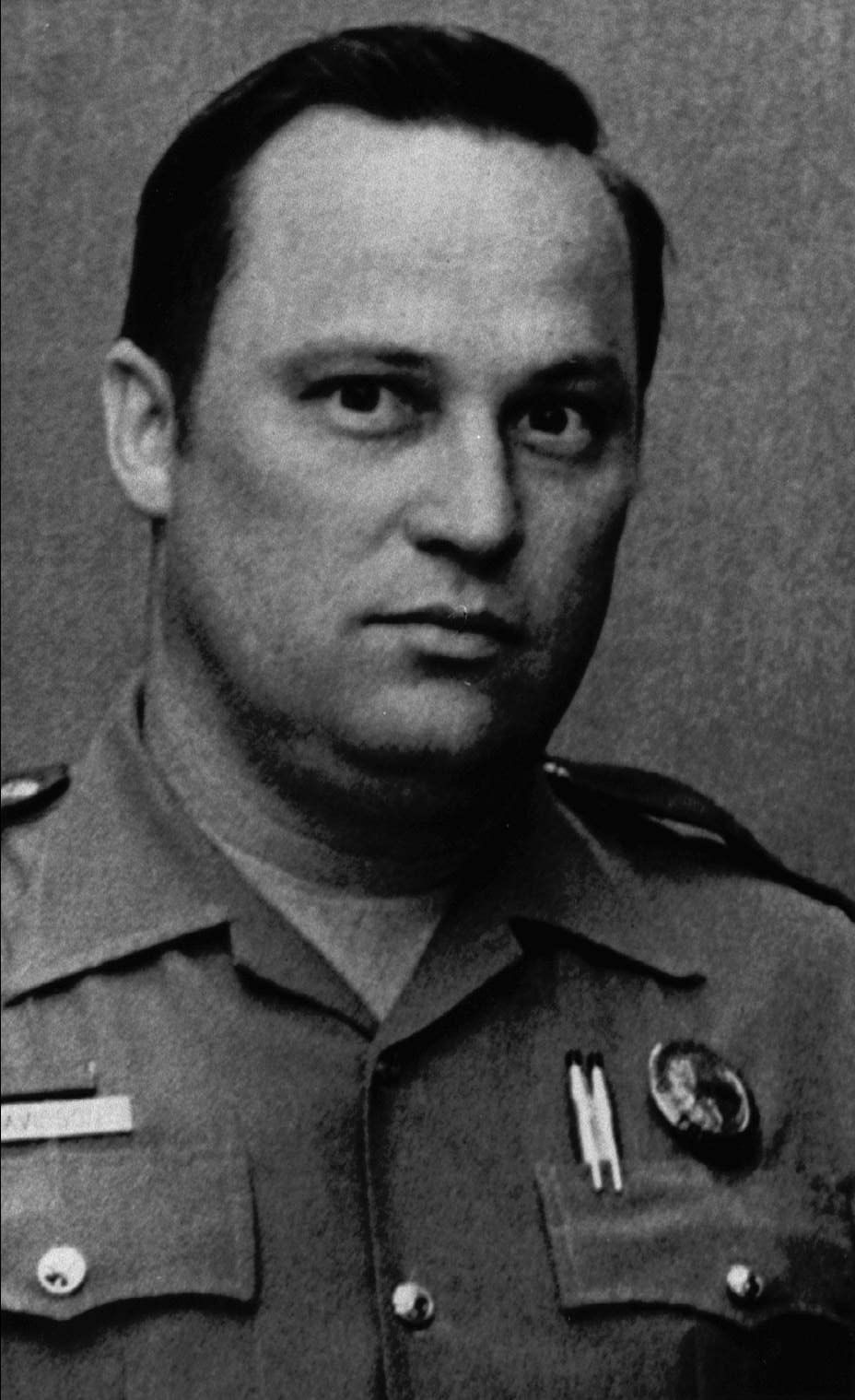 A 1985 file photo of Department of Public Safety Trooper Bill Davidson, 43, who died after being shot during a traffic stop in Jackson County. (Associated Press)