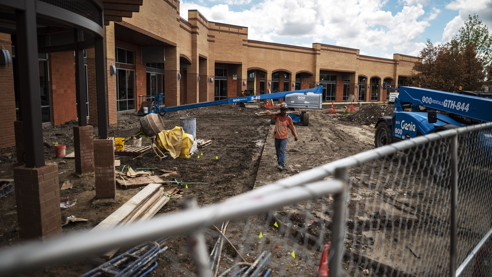 Construction is almost finished on the retail space next to Central Market at Preston Road and Royal Lane. The center is scheduled to be ready in late August.