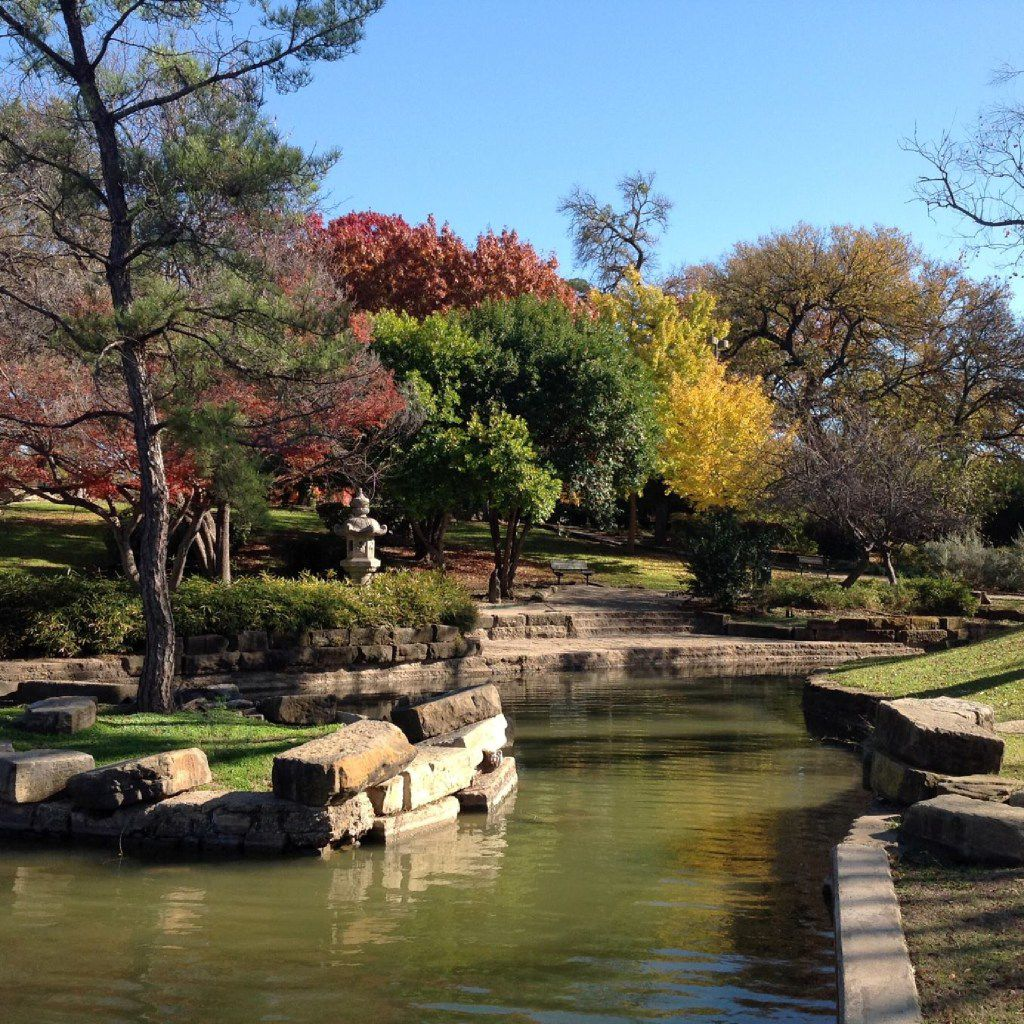 Japanese Garden at Kidd Springs Park in Oak Cliff