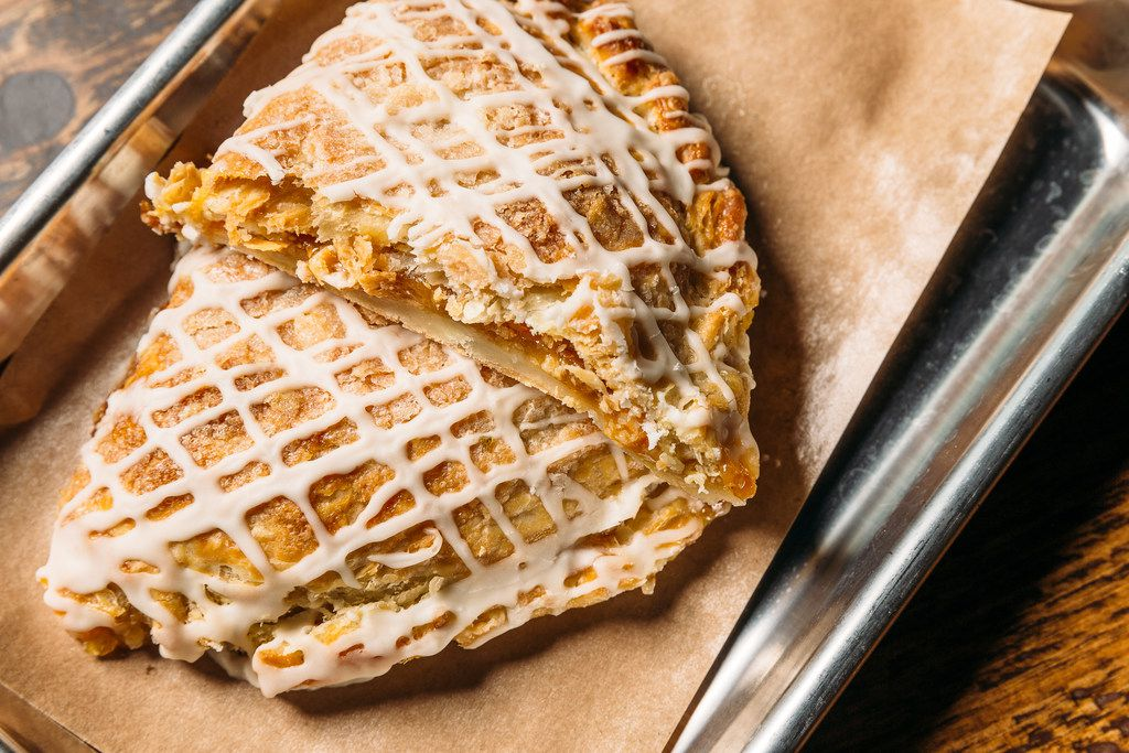 Hand pies are creating buzz at Heim Barbecue's two Fort Worth stores. Caramel apple is one of the varieties, along with strawberry-cream cheese.