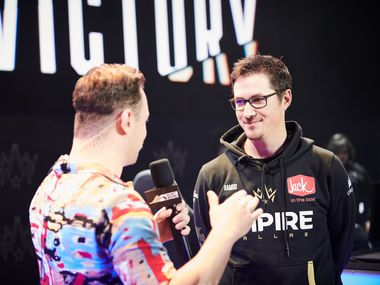 """Dallas Empire coach Raymond """"Rambo"""" Lussier is interviewed, March 8, 2020. Photo: Call of Duty League™"""