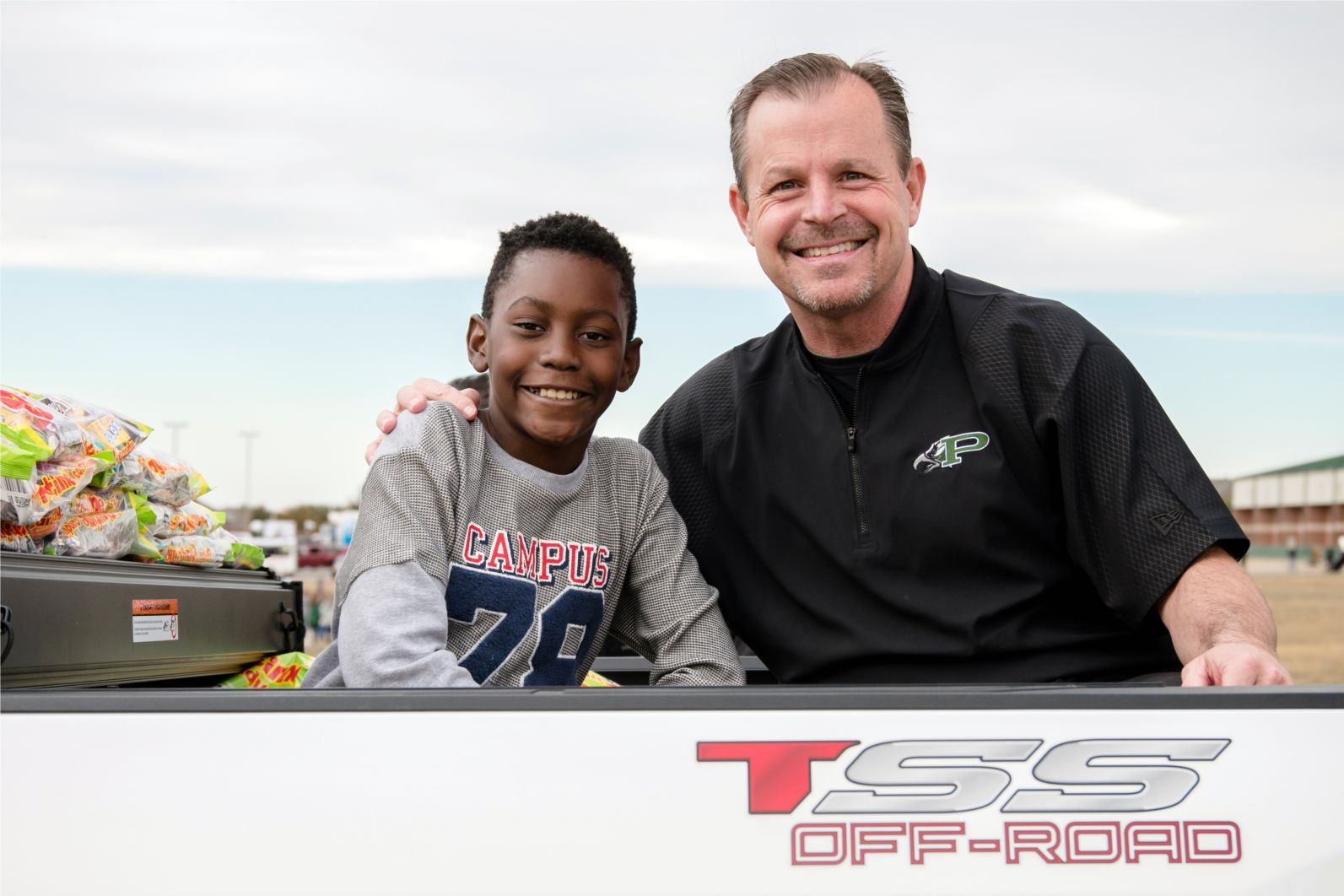 Prosper ISD Superintendent Dr. Drew Watkins led an annual Homecoming parade with a Folsom Elementary student.