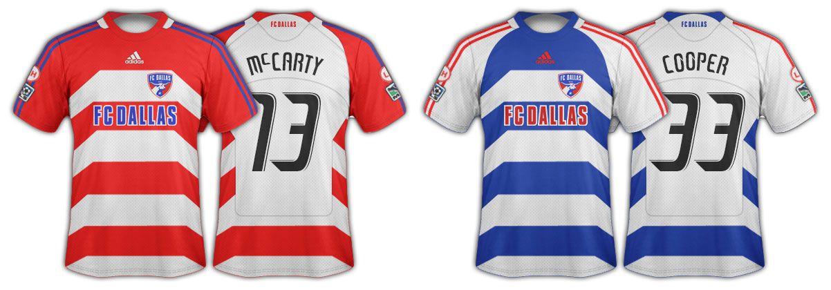 2008 and 2009 FC Dallas jerseys