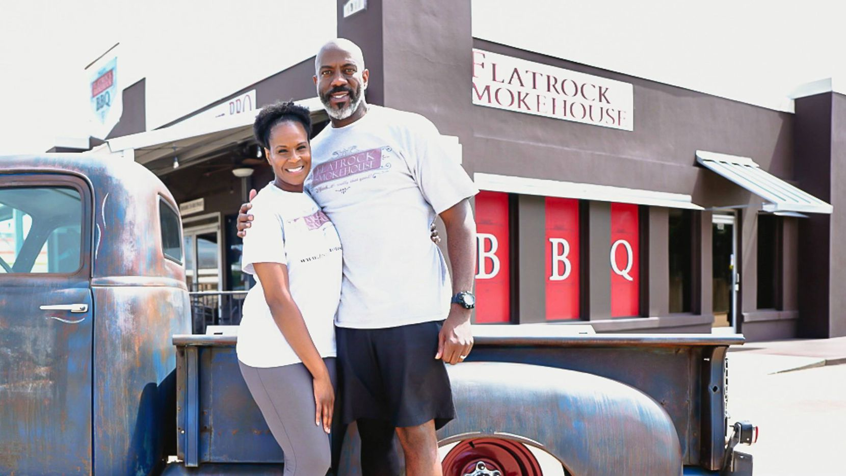 Kimberly and Robert Davis will open Flatrock Smokehouse BBQ next week in The Colony.