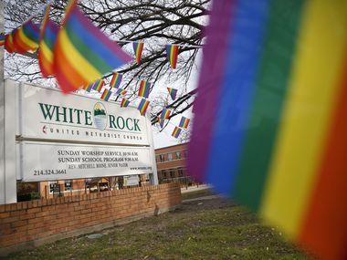 White Rock United Methodist Church in Dallas is one of the congregations reconsidering its marriage policy after the global denomination's controversial February vote.
