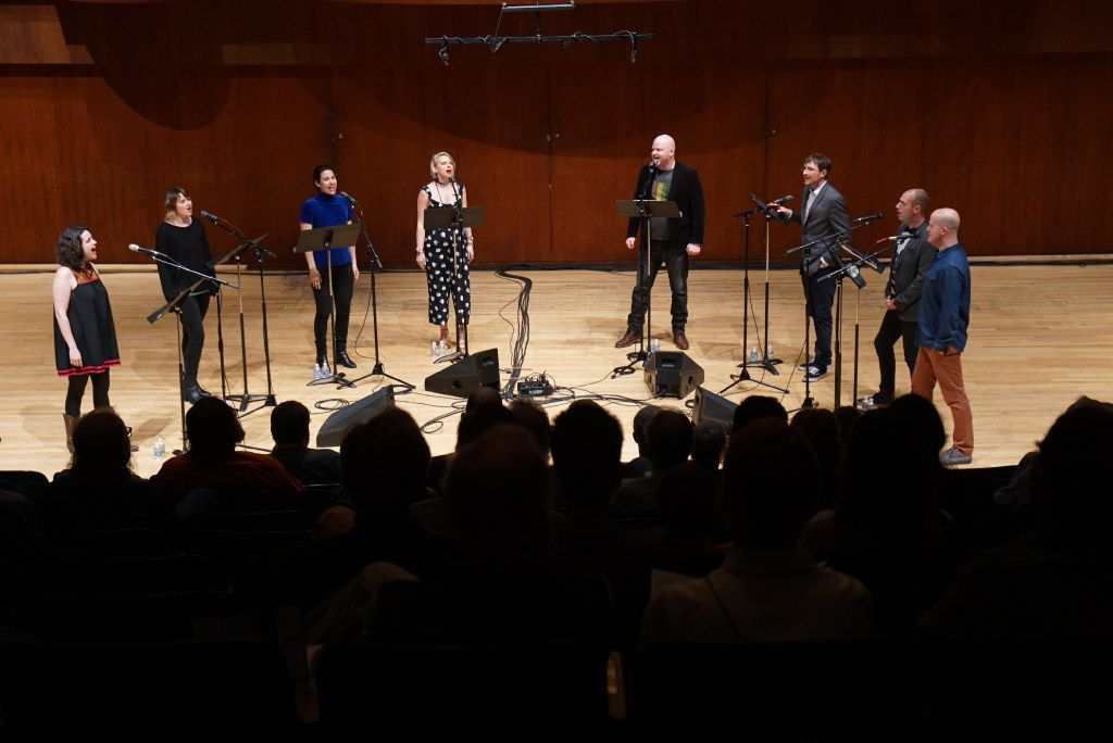 """Contemporary vocal ensemble """"Roomful of Teeth"""" performed at Caruth Auditorium in Dallas on Monday, March 20, 2017. (Lawrence Jenkins/Special Contributor)"""