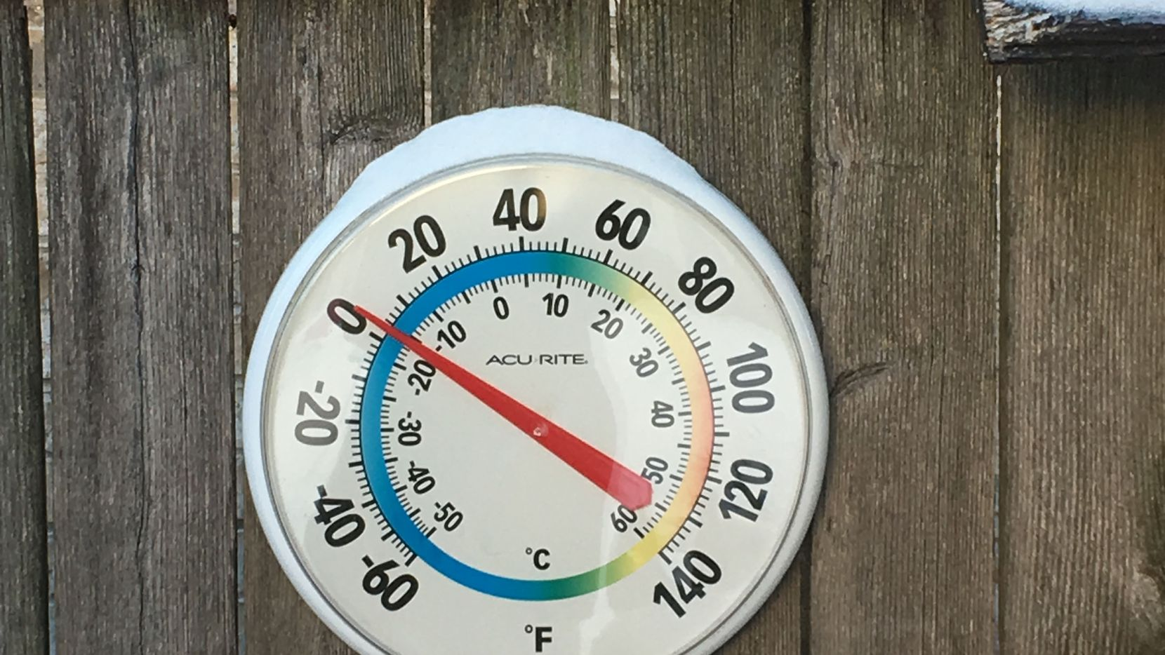 The outdoor temperature hovered close to zero degrees F on Tuesday in an East Dallas backyard, as unprecedented and dangrous freezing cold weather gripped North Texas.