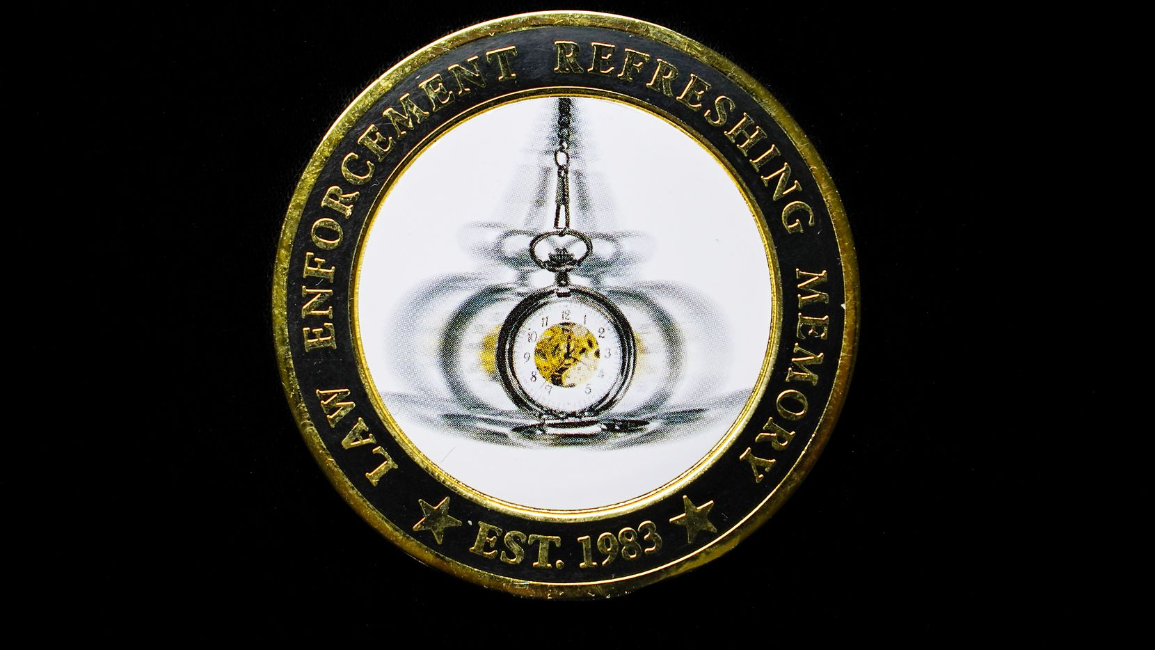 The Texas Association for Investigative Hypnosis sold these commemorative medallions to members at its 2019 annual conference in Huntsville. The association is one of the few, if not the only, remaining societies for police employing hypnosis in criminal investigations. In January 2021, less than a year after The Dallas Morning News published a series exposing the dubious science underlying the practice, the Texas Department of Public Safety ended its hypnosis program after forty years. (Smiley Pool/Staff Photographer)