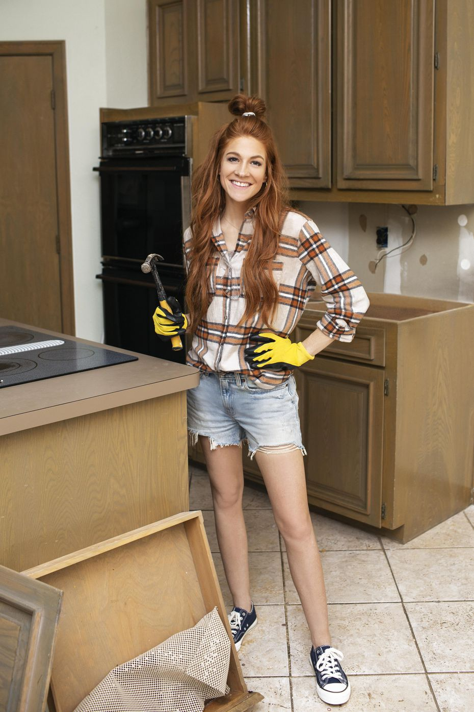Jennifer Todryk on one of the episodes of HGTV's new show No Demo Reno. The show's finale is May 27 at 7 p.m.