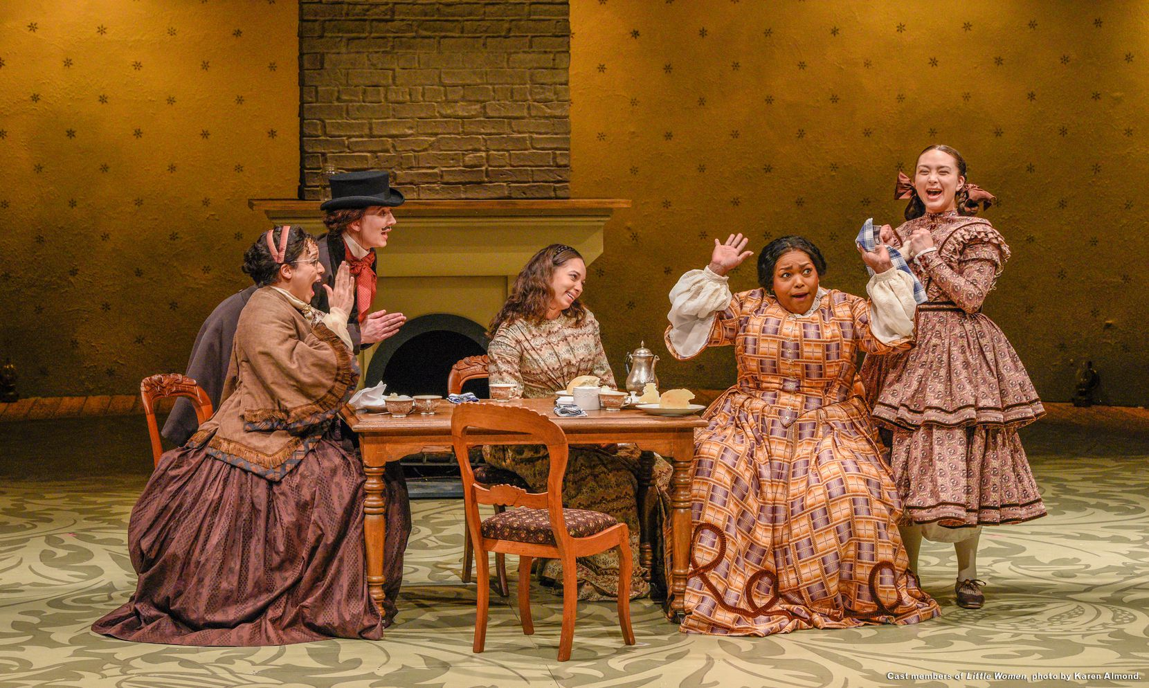 "A scene from Dallas Theater Center's production of ""Little Women,"" which runs at the Kalita Humphreys Theater through March 1."