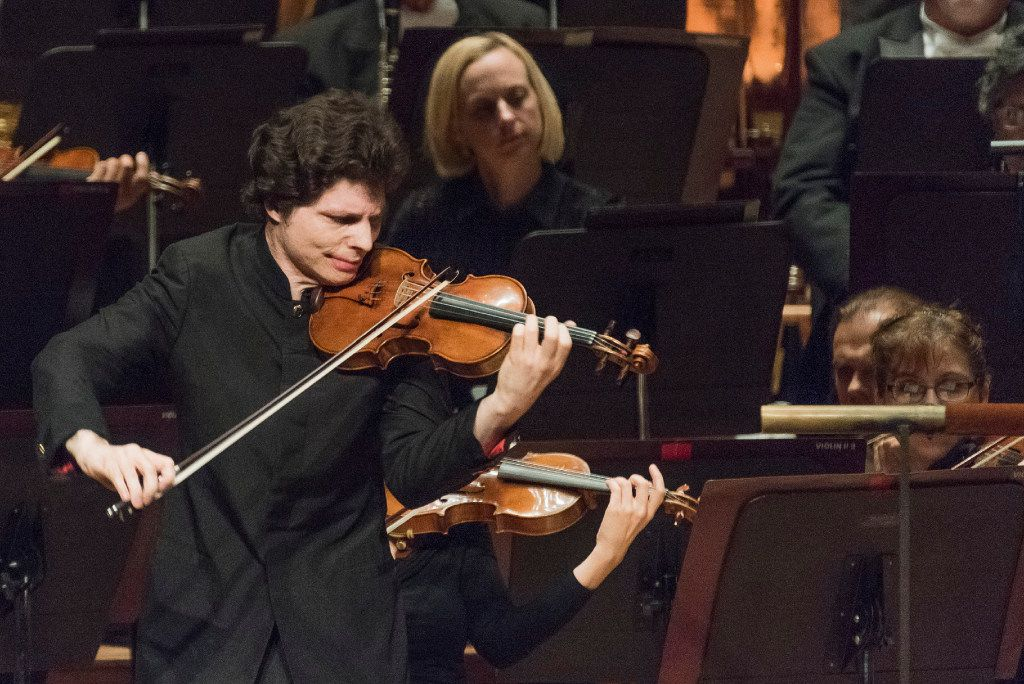 Violinist Augustin Hadelich performed with the Dallas Symphony Orchestra at the Morton H. Meyerson Symphony Center in October 2016.