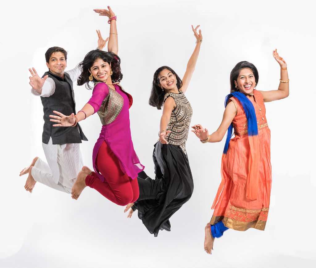 From left: Vrashank Shukla, Anusha Sanjay, Aarthi Ramesh and Yasmin Misra perform in Rang De! Color Me India! Sept. 8-23, presented by Mainstage Irving-Las Colinas in association with the thinkIndia Foundation at the Irving Arts Center.