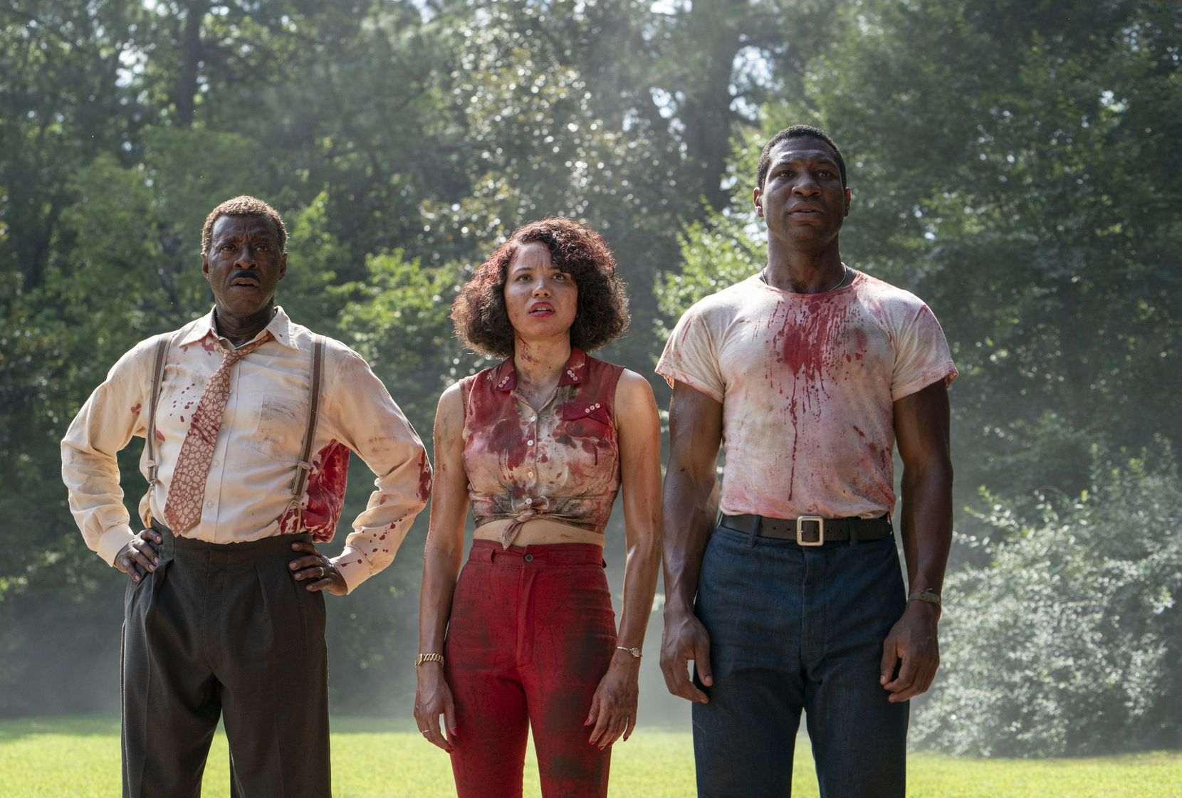 "Courtney B. Vance, Jurnee Smollett and Jonathan Majors in HBO's ""Lovecraft Country."""