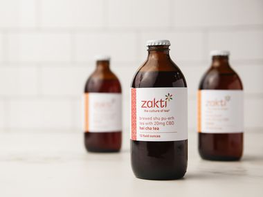 CBD-infused tea from Zakti comes in six varieties. (Ryan Michalesko/The Dallas Morning News)