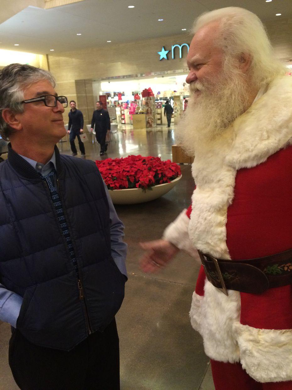"""Dr. Santa"" catches up with Watchdog Dave Lieber in 2015."