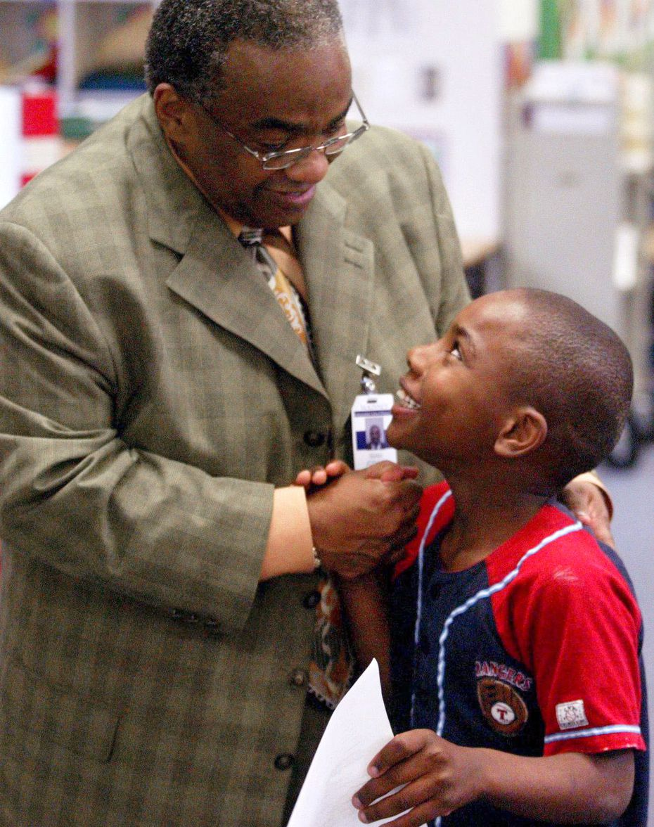 Way back in May 2003 ... Malvern Elementary student Clifton Mack, 7, was congratulated by then-school principal Isiah Joshua on a test that he did well on. Mr. Joshua was not only the principal at Malvern, but also the senior pastor at Shiloh Missionary Baptist Church in Plano where he had recently decided to work full time after retiring from the McKinney school district after 25 years.