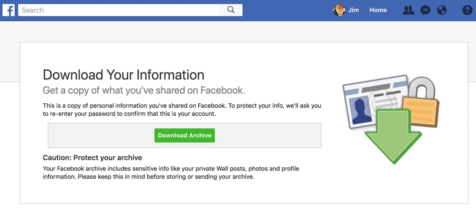 You can ask Facebook to send you a copy of all the data they have about you.