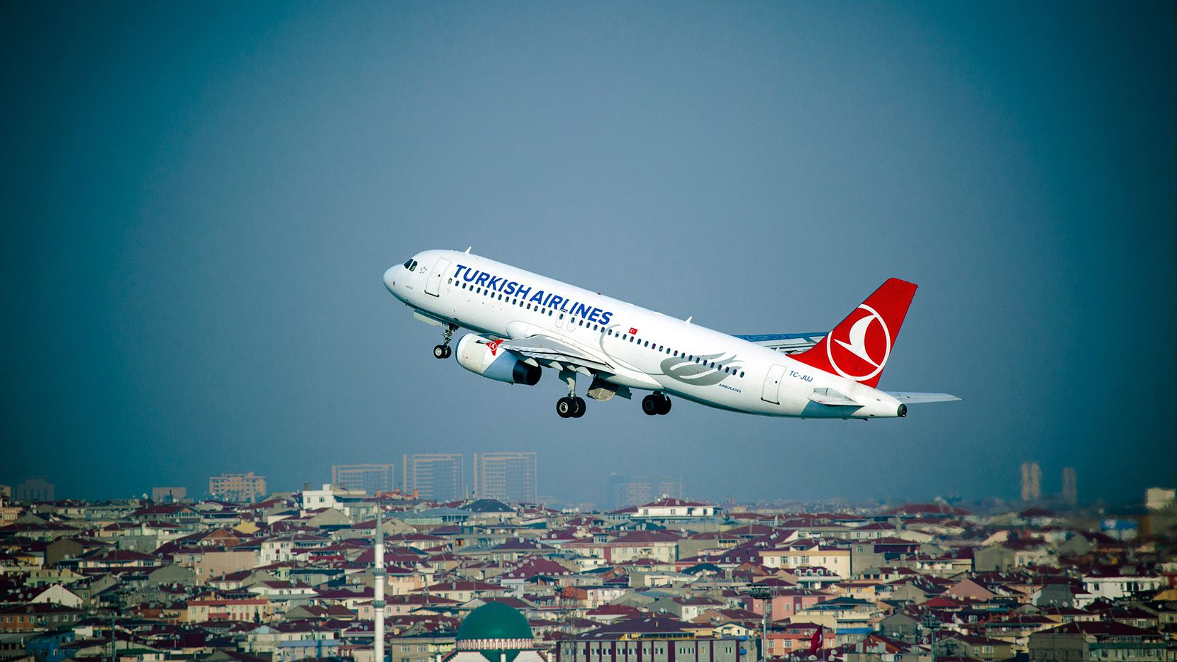 A Turkish Airlines Airbus A320 jet takes off from Istanbul Airport in Turkey. Turkey's flag carrier is set to start service to DFW International Airport in September.