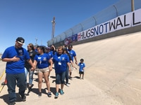 More than 4,000 people attended Hugs Not Walls in El Paso in 2019. Of that number, more than 300 were family members on each side of the border who reunited on the banks of the Rio Grande. Another event is set for Saturday.