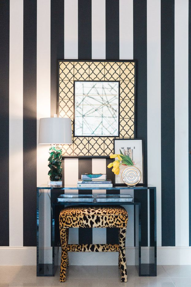 Dallas designer Abbe Fenimore loves to introduce animal print to give a serious shot of personality to a space.