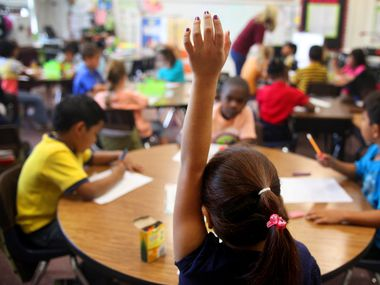 A look at a Northrich Elementary School classroom in Richardson.